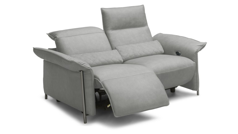 Canap 2 places relax lectrique hoje en cuir mobilier moss for Definition of canape