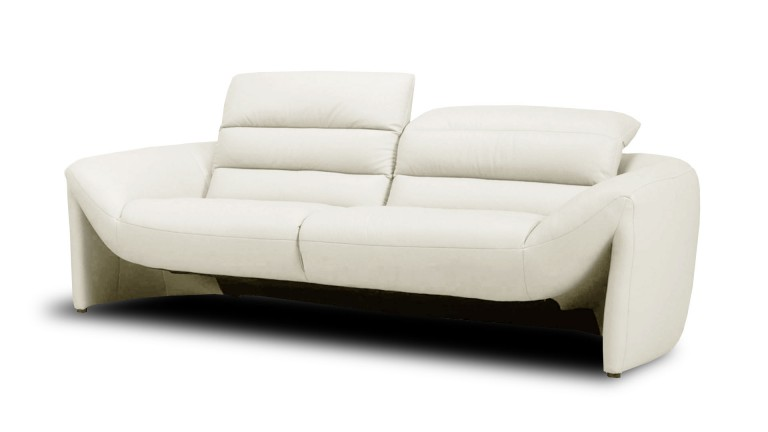 Canap cuir design 3 places seattle mobilier moss for Canape cuir blanc design