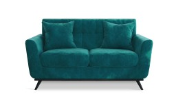 Canape deux places scandinave stockolm velours bleucanard 74A mobiliermoss