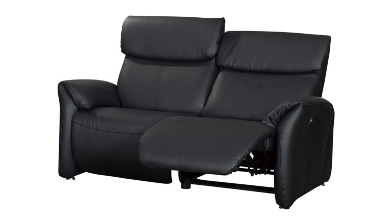 Canap relax confort 2 places xl tout cuir ohio mobilier for Canape relax cuir 2 places
