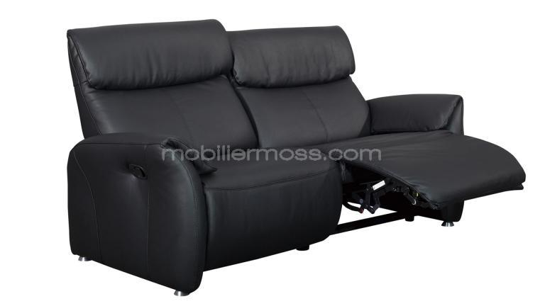Canap relax confort 2 places xl tout cuir ohio mobilier for Definition of canape