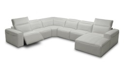 canape relax electrique angle gauche cuir gris perle9015 ameland mobiliermoss