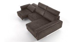 canape relax tissu anthracite 2 places meridienne canelo mobiliermoss