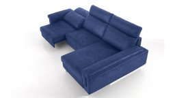canape relax tissu bleu 2 places meridienne canelo mobiliermoss
