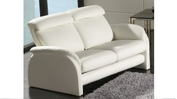 canape relaxation cuir 2 places blanc napolia mobiliermoss