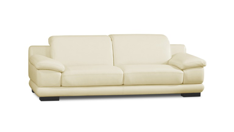 canape relaxation cuir lynch 3 place cremeL19 mobiliermoss