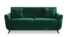 canape trois places scandinave stockolm velours vert 68A mobiliermoss