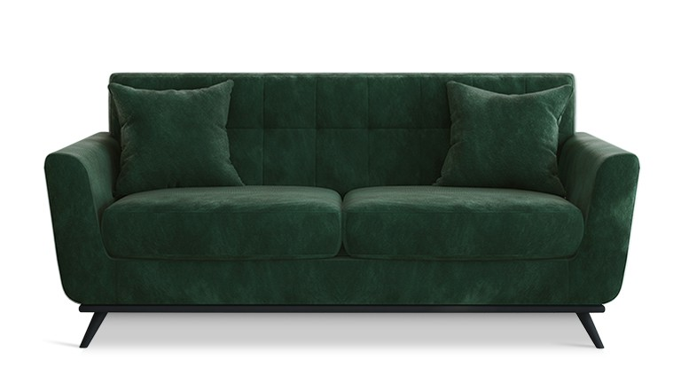 Canape trois places scandinave stockolm velours vert GN001 mobiliermoss