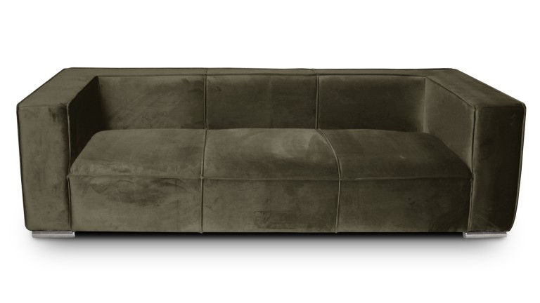 canape velours taupe656 3places morys mobiliermoss