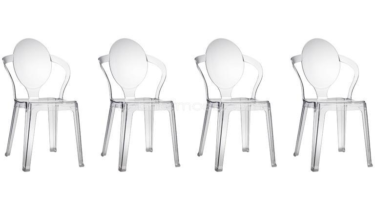 Chaises plexiglass transparentes poon vendues en lot mobilier moss - Chaise plexiglass transparente ...