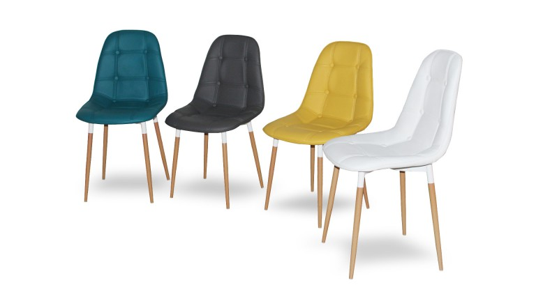 chaise capitonne design 4couleurs weert mobiliermoss