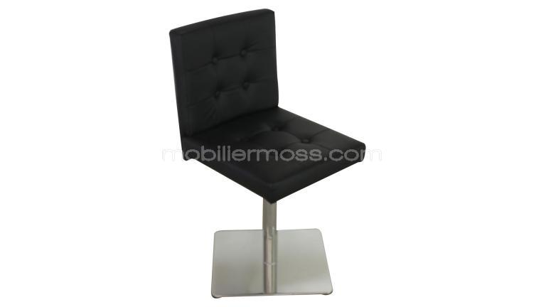 chaise moderne avec pied en m tal chrom ziby mobilier moss. Black Bedroom Furniture Sets. Home Design Ideas