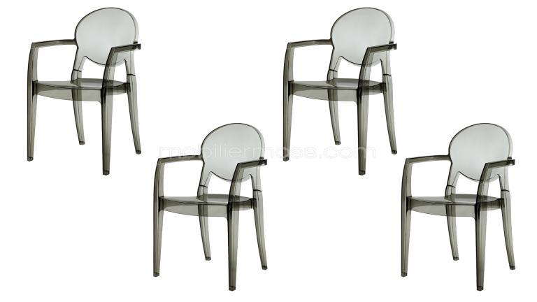 Chaises design transparente baroques et empilables luisa for Chaise design plexi