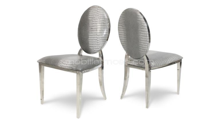 chaise design palmyr gris croco mobiliermoss