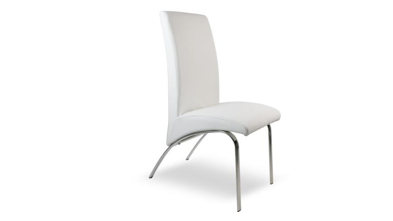 chaise design simili cuir blanc win cote mobiliermoss