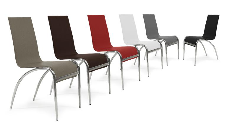 chaise design similicuir 6couleurs cilia mobiliermoss
