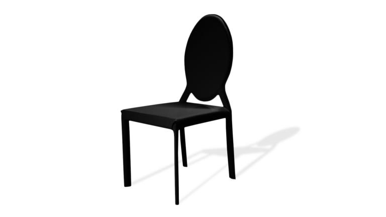 chaise design similicuir noir eracla mobiliermoss