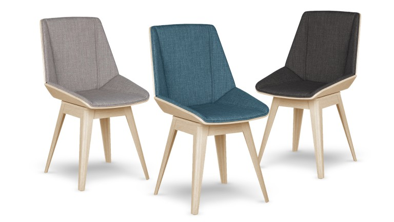 Chaise design mobiliermoss style scandinave en - Chaises en tissus design ...