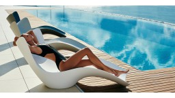 Chaise longue design contemporain polyethylene blanc surf mobiliermoss