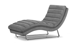 chaise longue tissu style retro mobiliermoss
