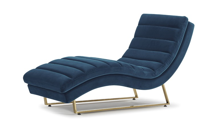 chaise longue velours style retro mobiliermoss
