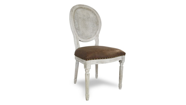 chaise medaillon baroque avec dossier canne assise T0878 mobiliermoss