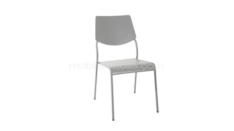 chaise metal delicius gris mobiliermoss