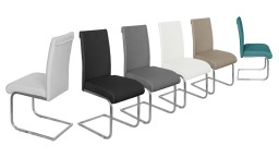 chaise moderne similicuir 6couleurs pied inox lysekil mobiliermoss
