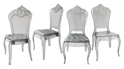 Lot de 4 chaises design en plexi transparent - Astorga