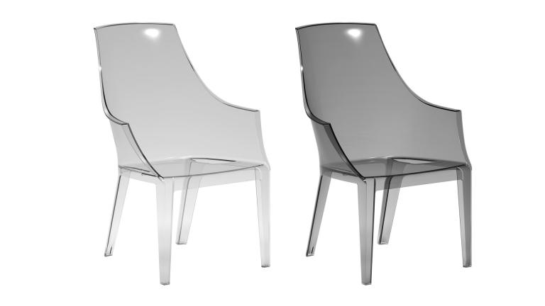 Fauteuil design en polycarbonate transparente darsy for Chaise design plexi