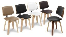 Mobiliermoss.com - Chaise design pieds bois - hambourg - chaise bicolore