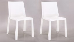 chaises design lot 2 polycarbonate blanc fergys mobiliermoss