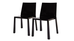 chaises design lot 2 polycarbonate noir fergys mobiliermoss