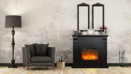 cheminee electrique manteau noir 1 kamin royal black