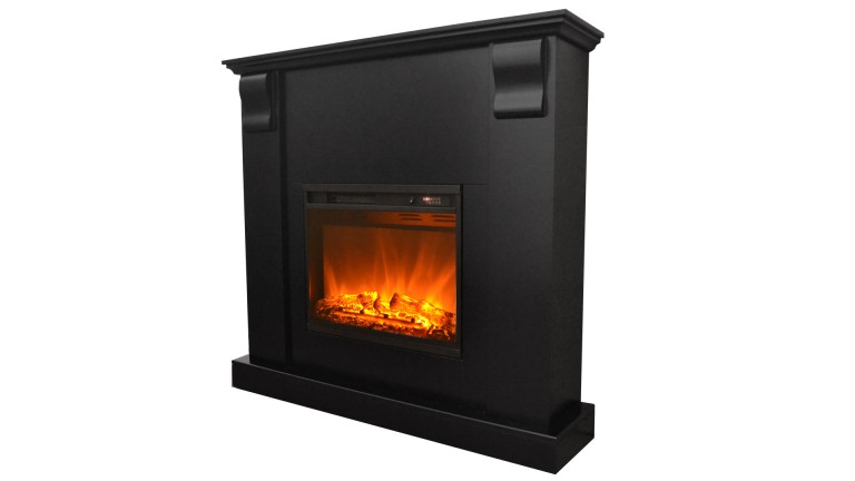 cheminee electrique manteau noir 5 kamin royal black