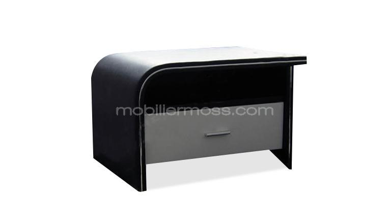 chevet design store une commode ou chevet aspect cuir au. Black Bedroom Furniture Sets. Home Design Ideas