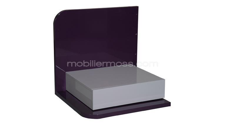 chevet suspendu design pilse violet gris laque moderne gauche