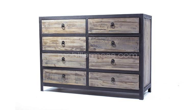 commode 8 tiroirs koroco mobilier moss. Black Bedroom Furniture Sets. Home Design Ideas