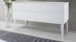 commode 4tiroirs laque blanc galatik 2 mobiliermoss