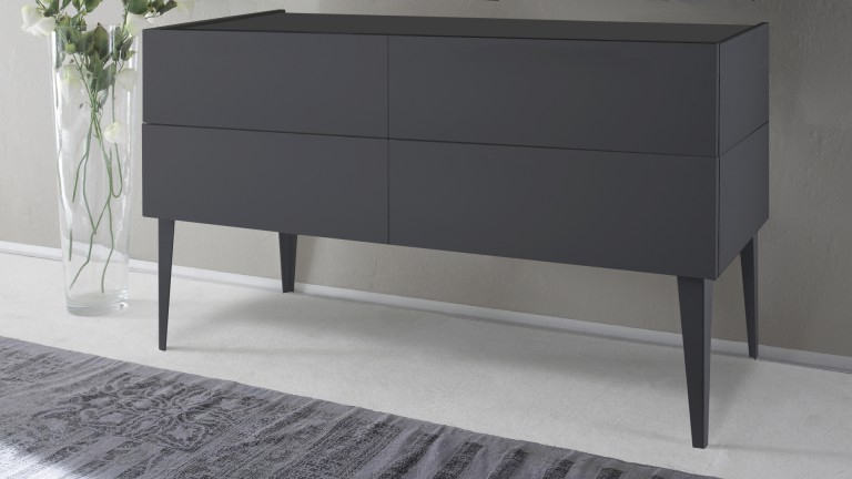 commode 4tiroirs laque mat gris galatik 2 mobiliermoss