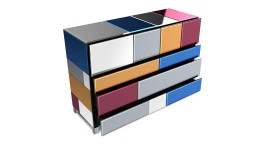 Commode miroir multicolores mona mobiliermoss