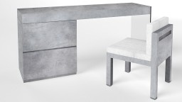Console effet beton design contemporain crystalline mobiliermoss