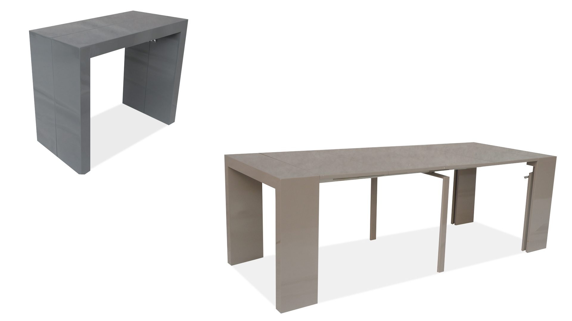 Promotion 6 console transformable en table diner flex table tirable - Console transformable en table a manger ...