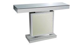console miroir design eclairage led infini blanc tocoa mobiliermoss