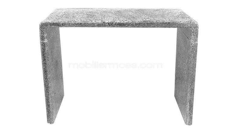 console mosaique design silver mobiliermoss
