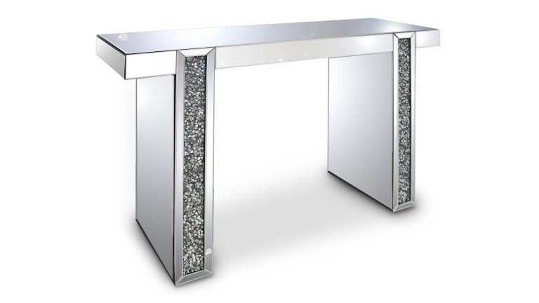 console miroir manihi avec strass mobilier moss. Black Bedroom Furniture Sets. Home Design Ideas