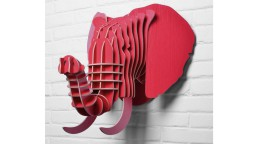 decoration trophee elephant rouge safari mobiliermoss