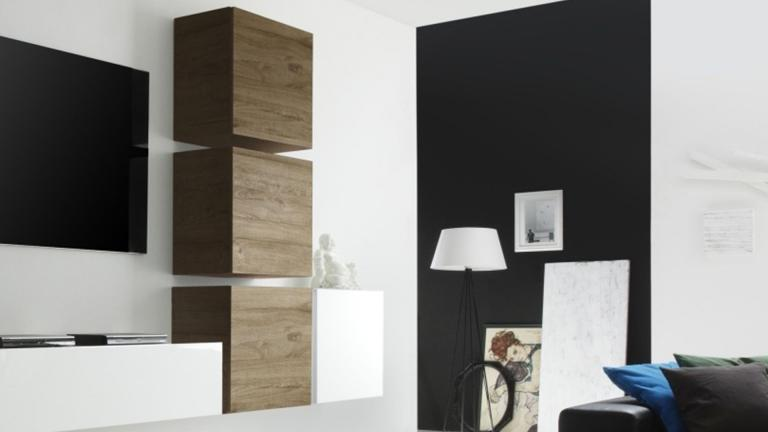 petit rangement suspendu linery avec porte battante. Black Bedroom Furniture Sets. Home Design Ideas