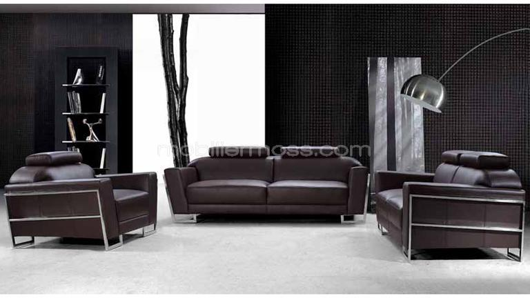 Salon rivera canap s 3 2 places fauteuil mobilier moss - Comment decorer un salon moderne ...