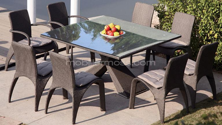 Table et chaise de jardin moderne for Table de jardin moderne